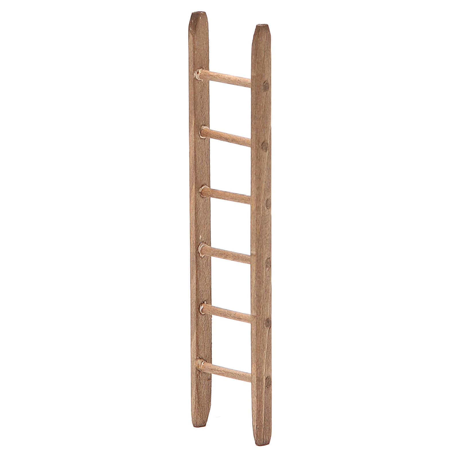 Scaletta per presepe in legno scuro h. 14 x3,5 cm 4