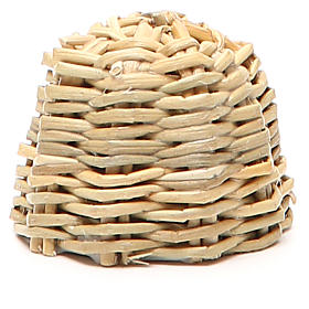 Beehive in wood and wicker for nativity h. 3,5cm s2
