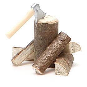 Accetta con legna 5x5x8 cm s2