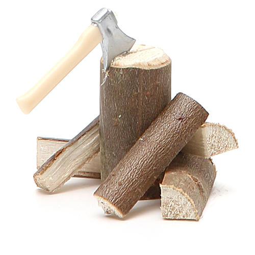 Accetta con legna 5x5x8 cm 2