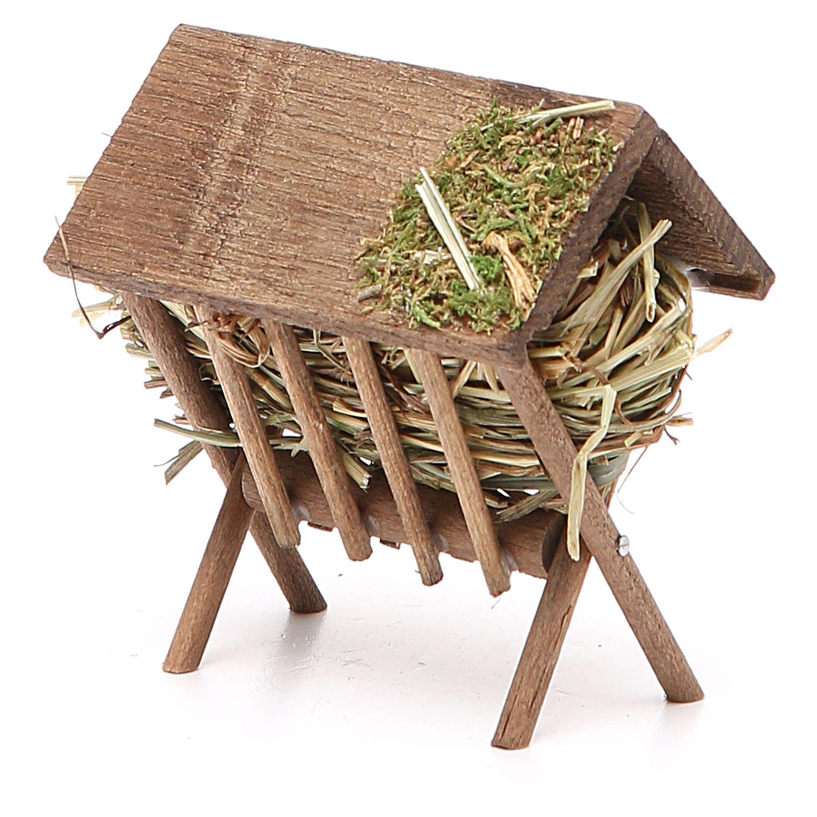 Rastrelliera con tetto e foraggio h. 7,5x4,5x7 cm 4
