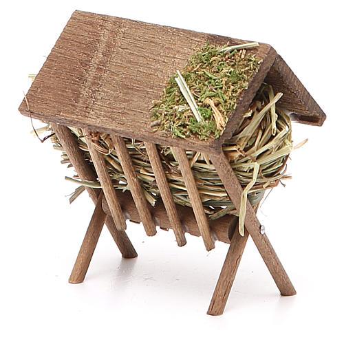 Rastrelliera con tetto e foraggio h. 7,5x4,5x7 cm 2