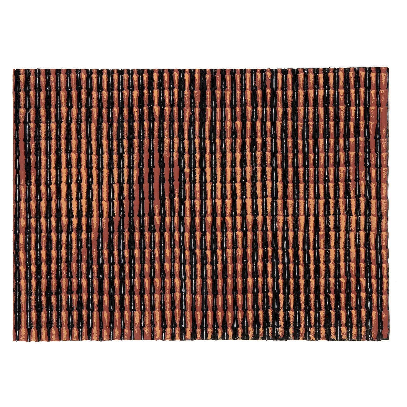 Panel plástico techo belén rojo degradado 35x25 cm 4