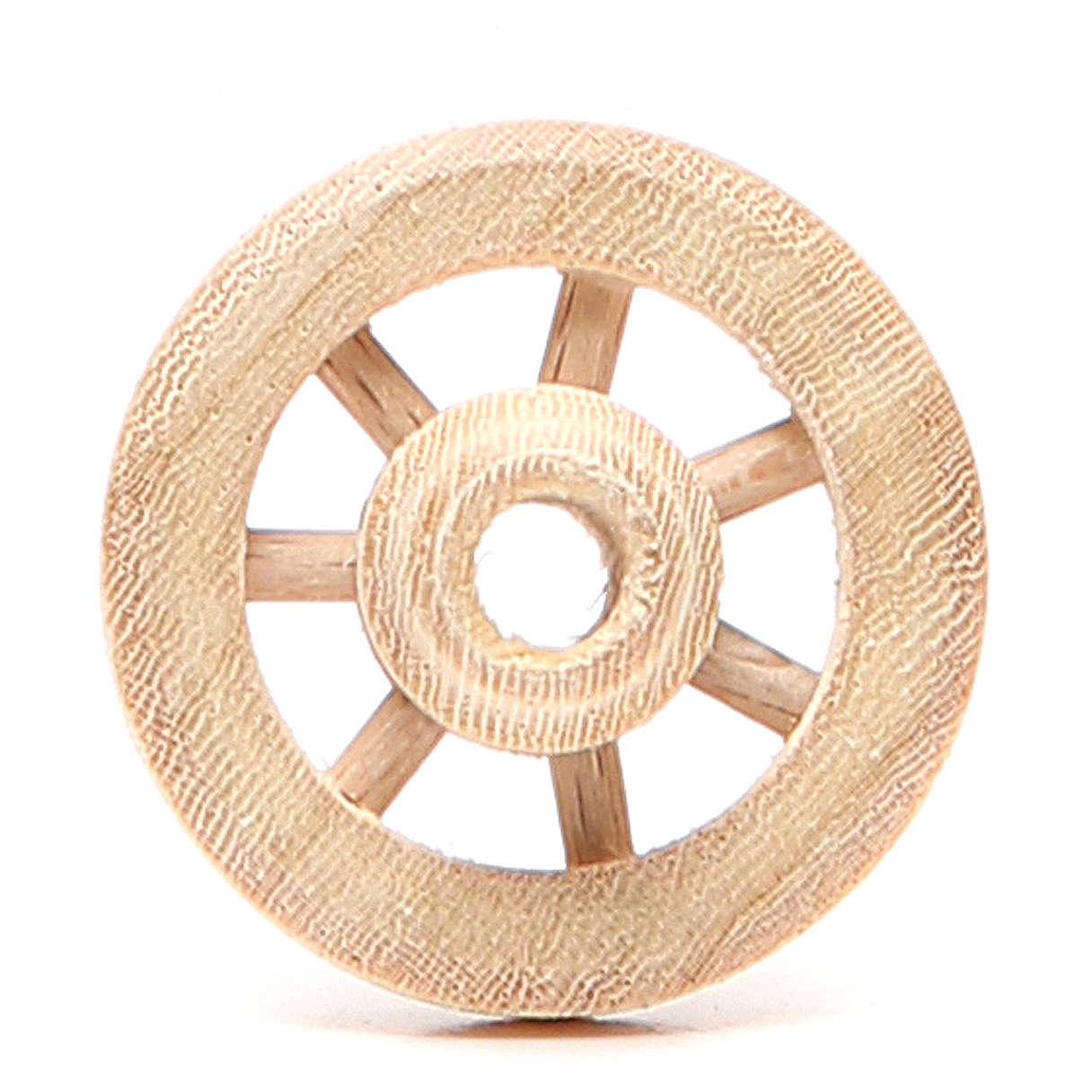 Rueda de madera diámetro 3,5 cm 4