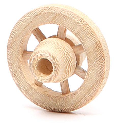 Roue en bois diamètre 3,5 cm 2