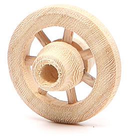 Ruota in legno diametro 3,5 cm s2