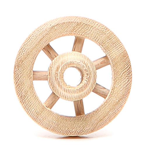 Ruota in legno diametro 3,5 cm 1