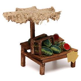 Banca presépio com chapéu-de-sol melancias 12x10x12 cm s3