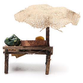 Banca presépio com chapéu de sol hortaliça 12x10x12 cm s4