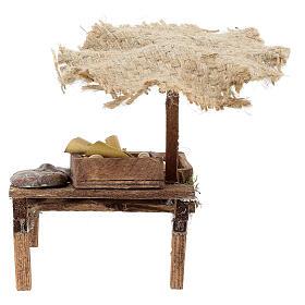 Workshop nativity with beach umbrella, cured meats 12x10x12cm s4