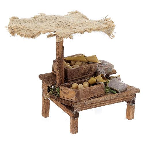 Workshop nativity with beach umbrella, cured meats 12x10x12cm 3