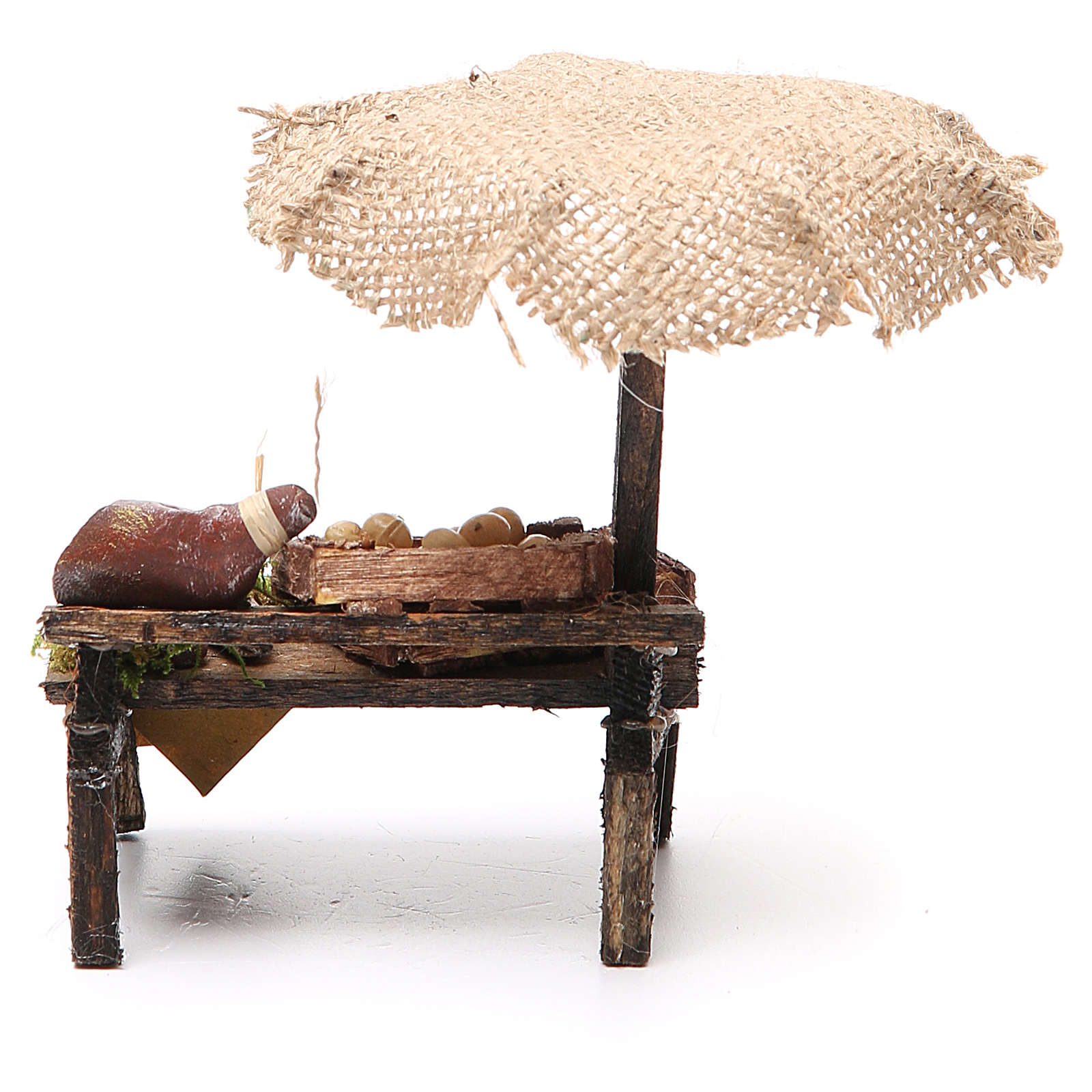Mostrador embutidos huevos belén con paraguas 12x10x12 cm 4
