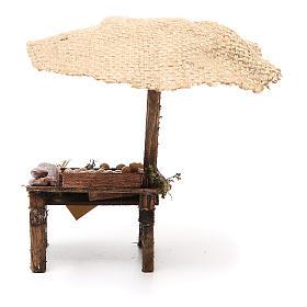 Banc charcuterie et oeufs crèche avec parasol 16x10x12 cm s4