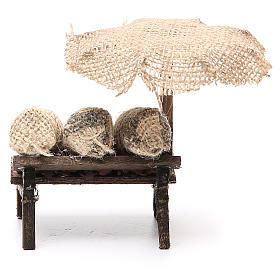 Workshop nativity with beach umbrella, chestnuts 12x10x12cm s4