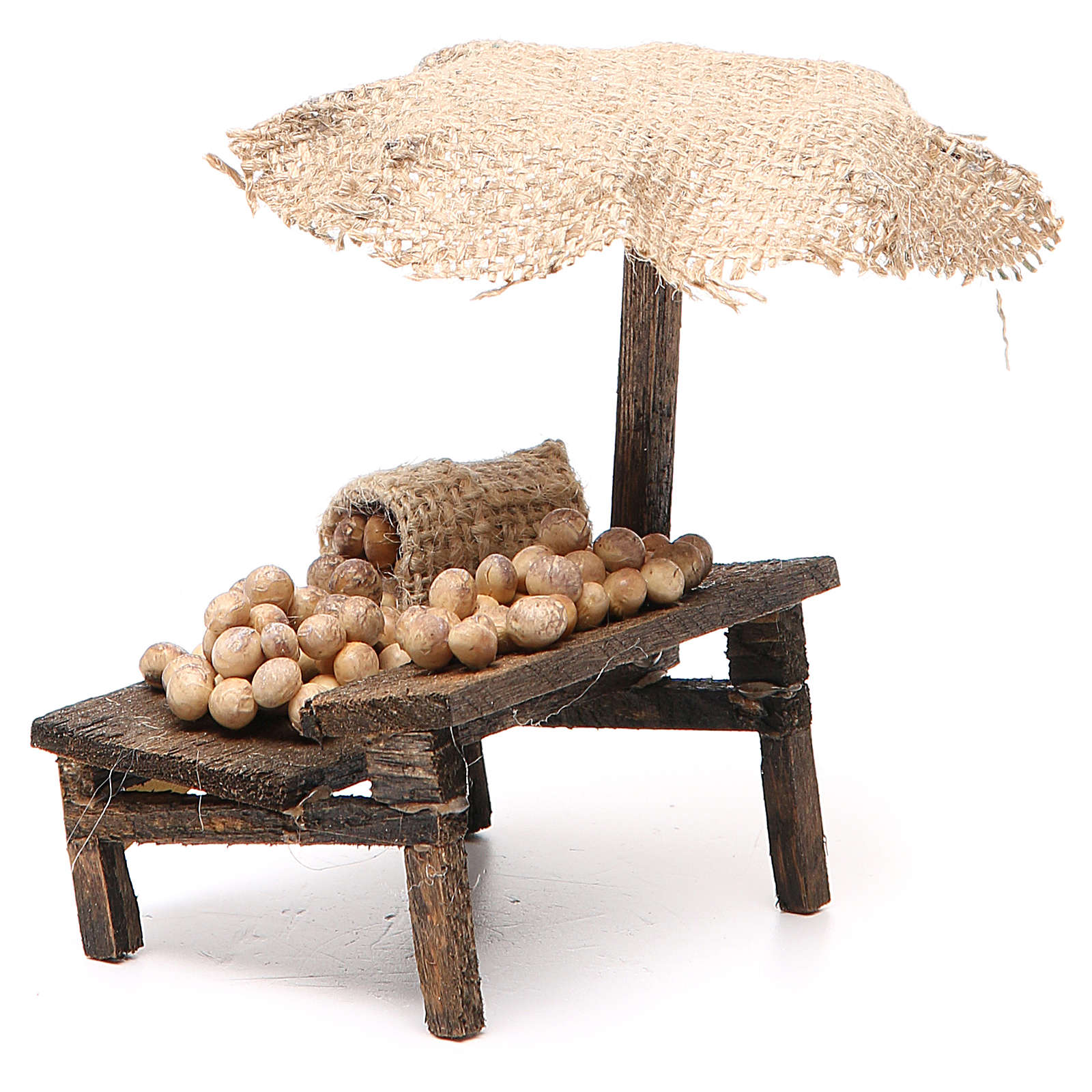 Nativity Bench with eggs and beach umbrella 12x10x12cm 4