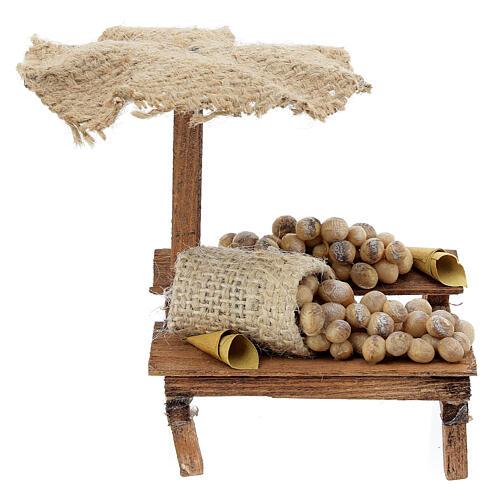 Banchetto presepe 10 cm con uova e ombrello 12x10x12 cm 1