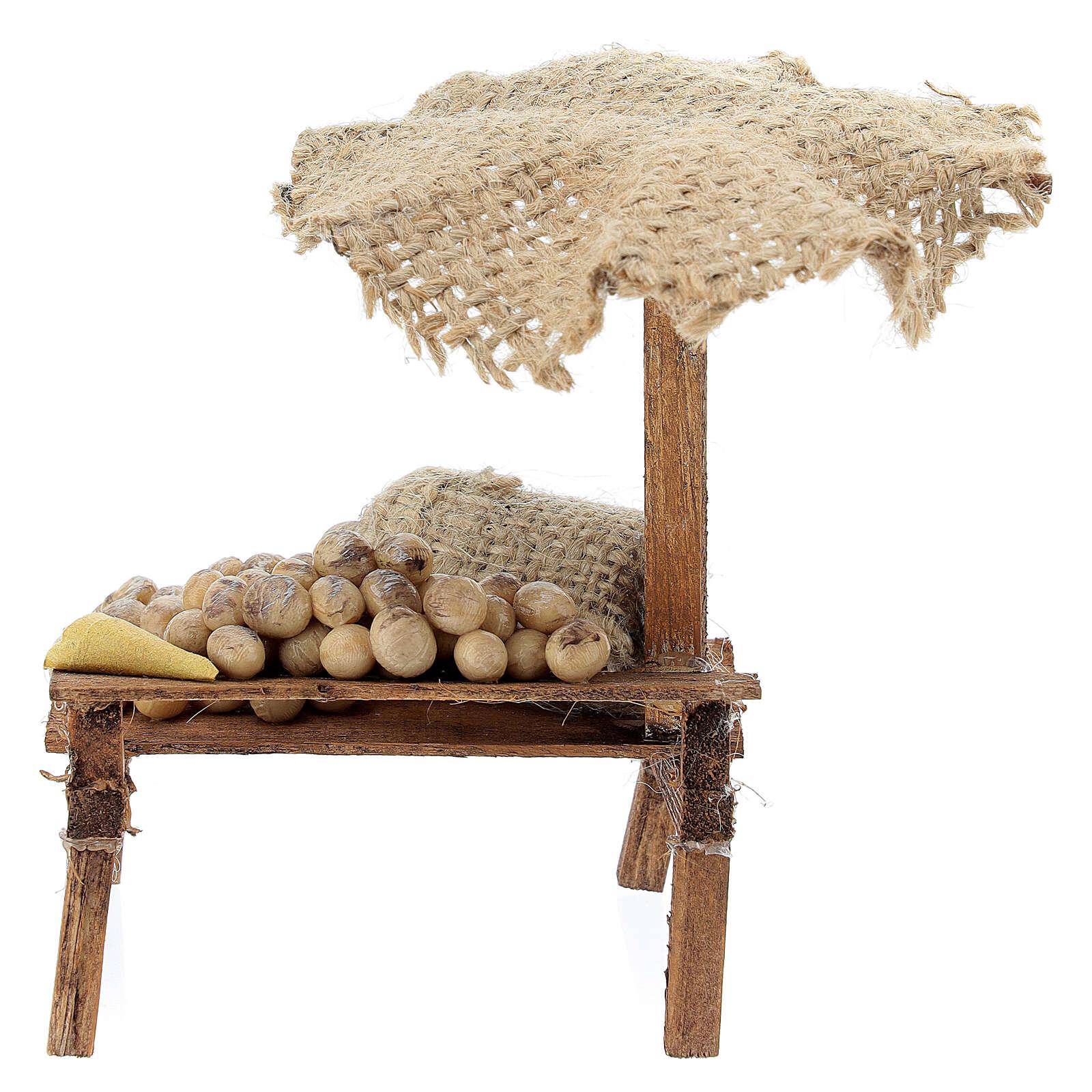 Nativity Bench with eggs and beach umbrella 12x10x12cm 4