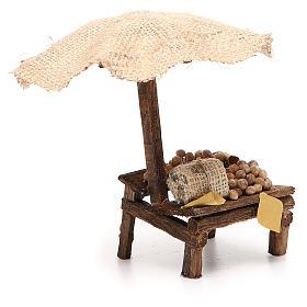 Nativity Bench with eggs and beach umbrella 16x10x12cm s3