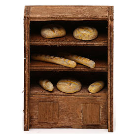 Miniature food: Bread Shelf for nativities 10cm