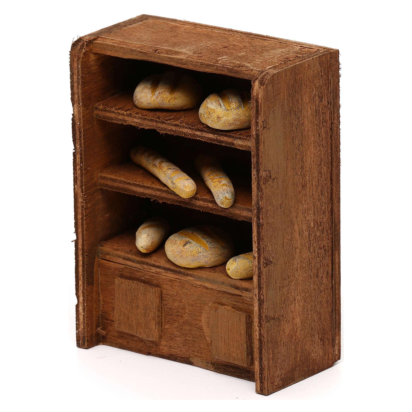 Étagère pain pour crèche 10 cm 4