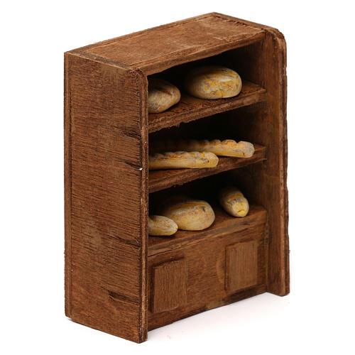 Étagère pain pour crèche 10 cm 3