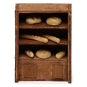 Cibo in miniatura presepe: Ripiano del pane per presepe cm 10