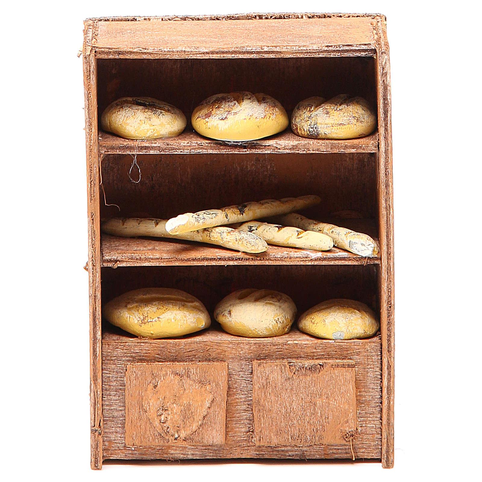 Bread Shelf for nativities of 12cm 4