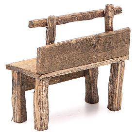 Panchina per presepe 8X4X9 cm s3
