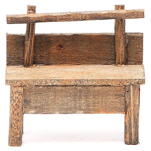 Panchina per presepe 8X4X9 cm 1