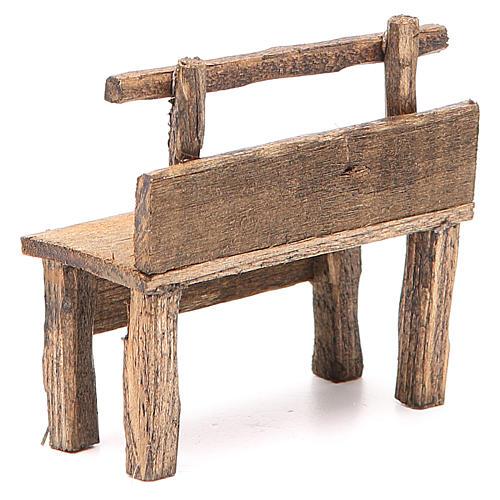 Panchina per presepe 8X4X9 cm 3