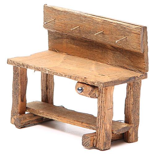 Work bench for nativity 10x5x9cm 2