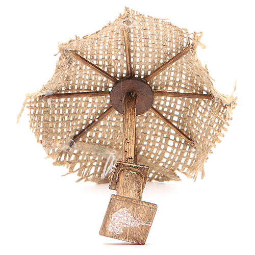Beach Umbrella jute Nativity 12x10x10cm 3
