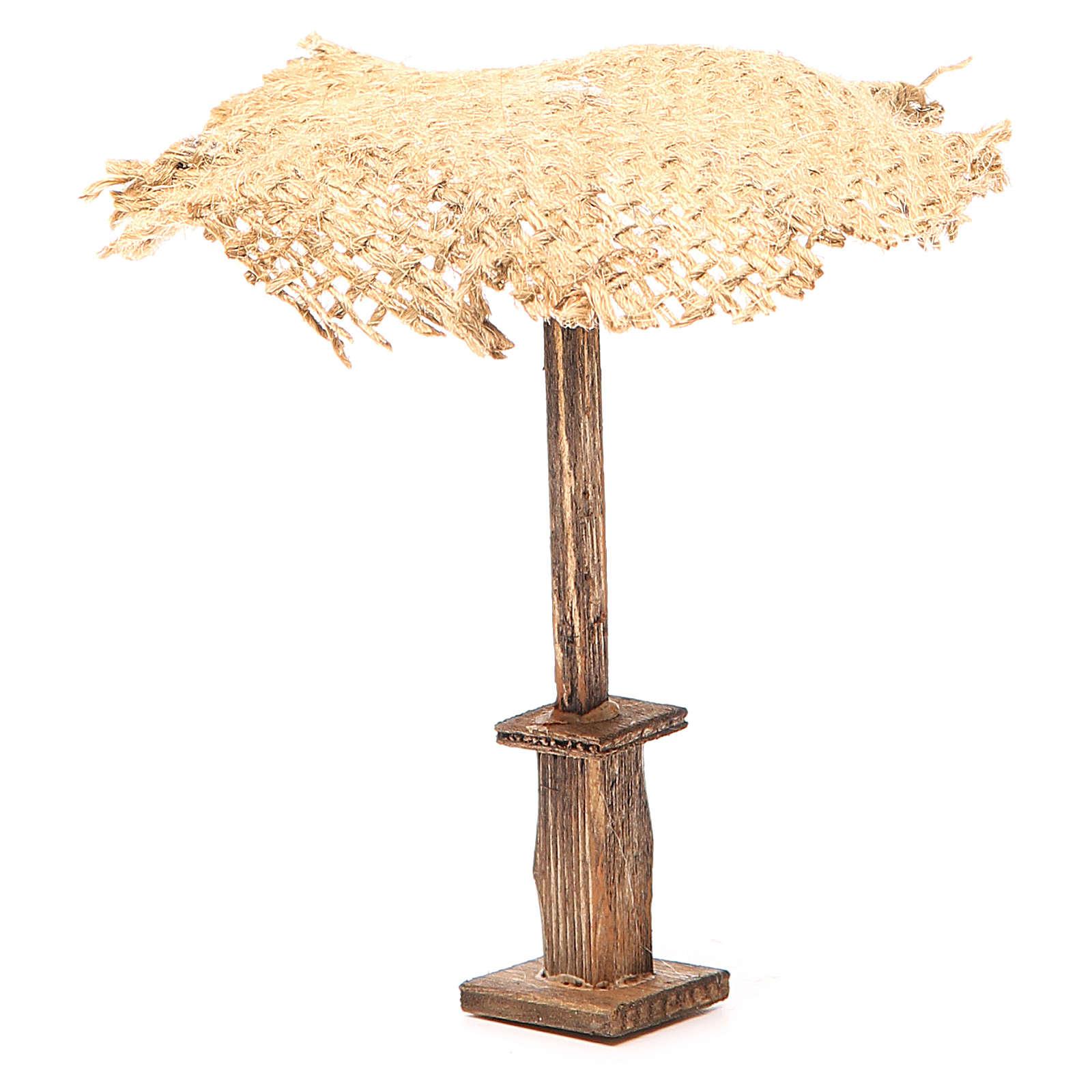 Paraguas yute para belén 12x10x10 cm 4