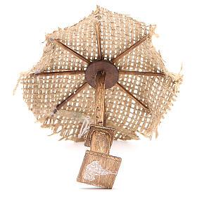 Paraguas yute para belén 12x10x10 cm s3