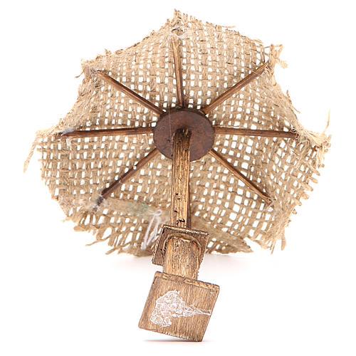 Ombrello juta per presepe 12X10X10 cm 3