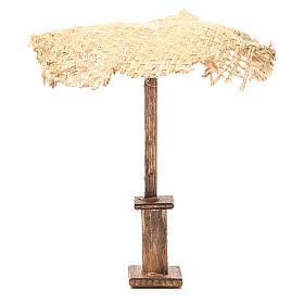 Acessórios de Casa para Presépio: Guarda-chuva juta para presépio 12x10x10 cm