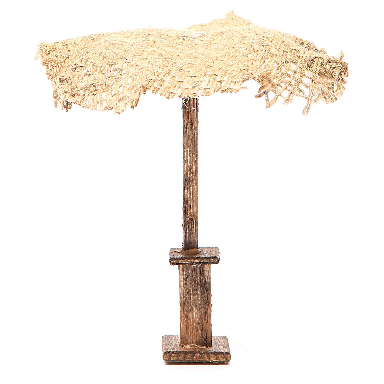 Beach Umbrella jute Nativity 12x10x10cm 4