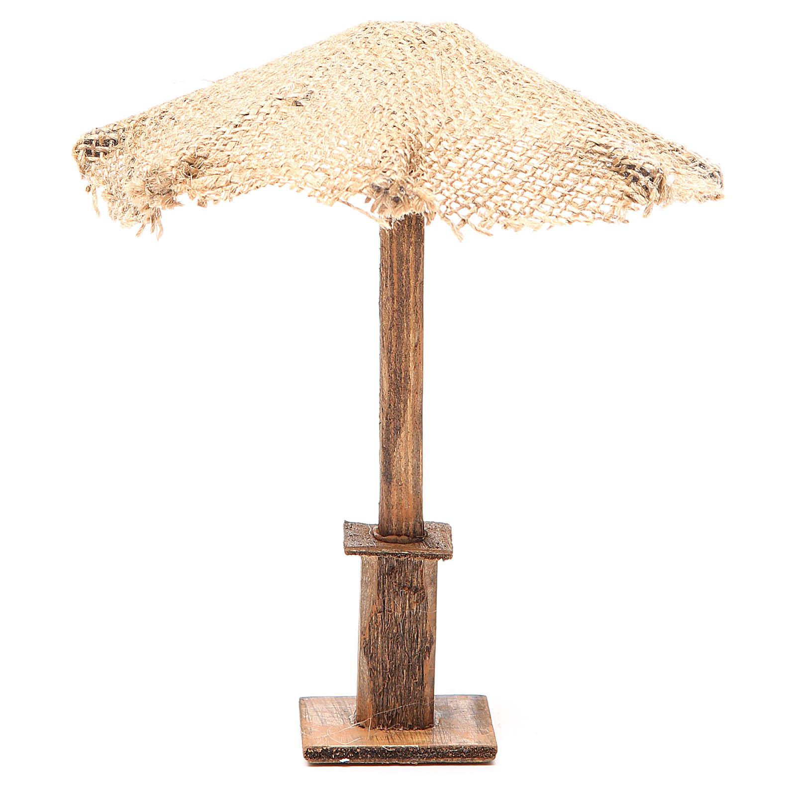 Beach Umbrella jute Nativity 16x16x16cm 4