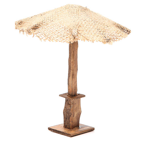 Beach Umbrella jute Nativity 16x16x16cm 2