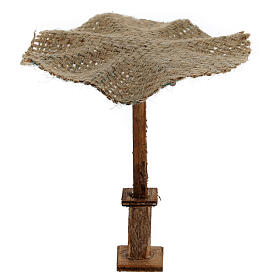 Beach Umbrella jute Nativity 16x16x16cm s2