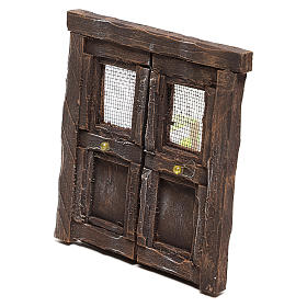 Puerta para belén madera 13x11 cm s2