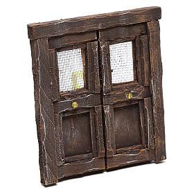 Puerta para belén madera 13x11 cm s3