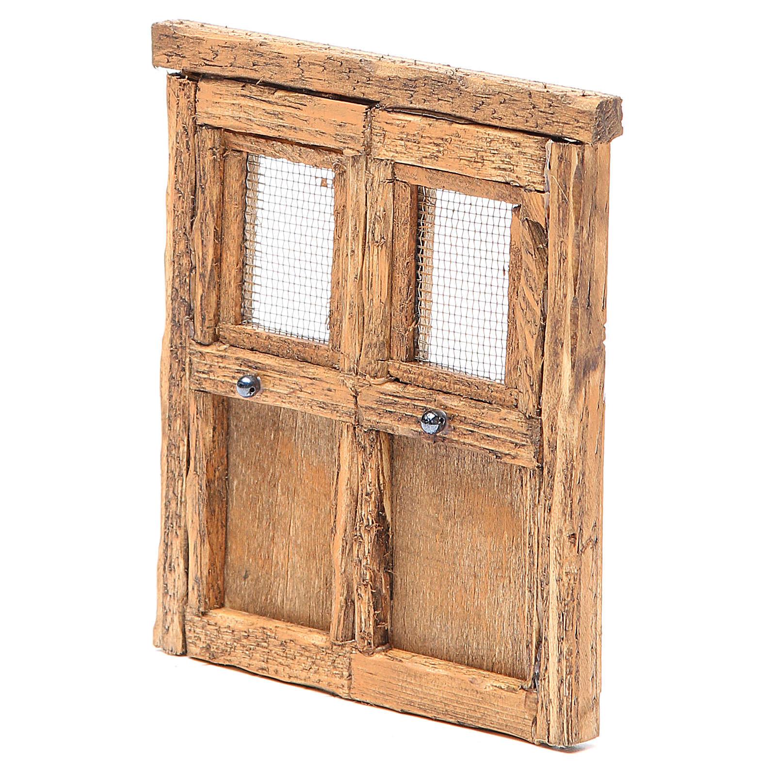 Porte pour crèche bois 13x11 cm 4