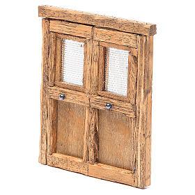 Porte pour crèche bois 13x11 cm s2