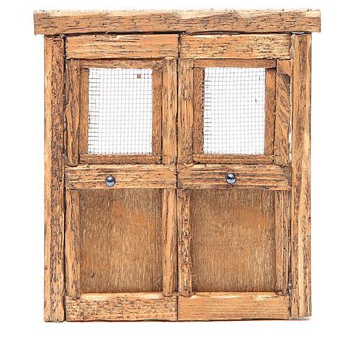 Porte pour crèche bois 13x11 cm 1