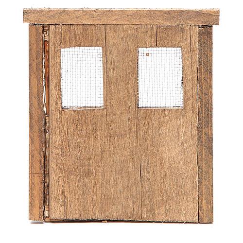 Porte pour crèche bois 13x11 cm 3