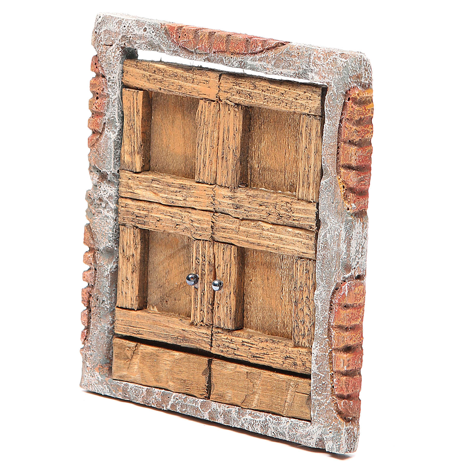 Portone per presepe in legno 15X13 cm 4