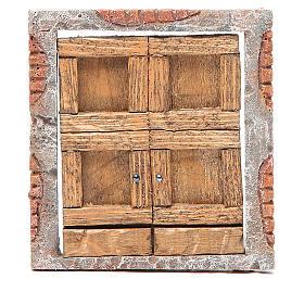 Portone per presepe in legno 15X13 cm s1