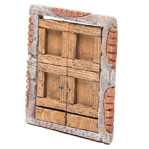 Portone per presepe in legno 15X13 cm 2
