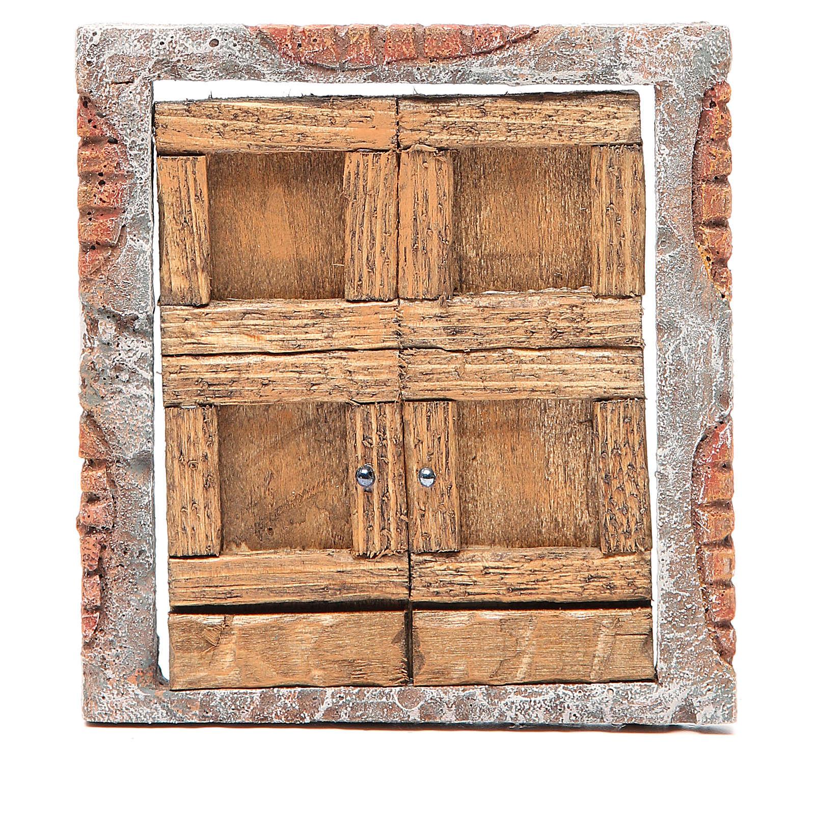 Front door for nativity in wood 15x13 4